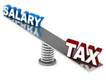Composant d'impôts illustration stock