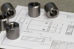 Composant de mesure en métal Image stock