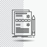 Composant, données, conception, matériel, ligne icône de système sur le fond transparent Illustration noire de vecteur d'ic?ne illustration libre de droits