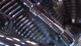 Composant en acier de scintillement de mécanisme, moteur de motocyclette de concepteur, plan rapproché clips vidéos