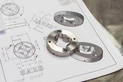 Composant en métal image stock