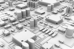 composants électriques illustration de vecteur
