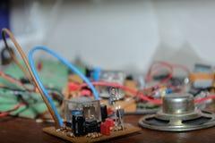 Composants électriques - plan rapproché Photo stock