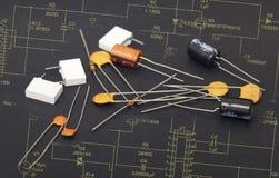 Composants électroniques images stock