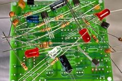 Composants électroniques et carte Images libres de droits