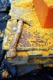 Composants découpés bougies Image stock