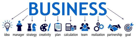 Composants d'affaires - vecteur courant illustration de vecteur