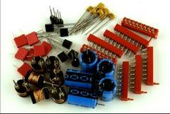 Composants d'Electonoc sur le fond blanc Image libre de droits