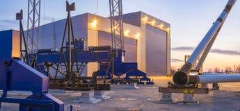 Composants d'usine pour des fermes de vent de reflux photo libre de droits