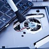 Composants de cahier de nettoyage photo stock