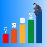 Composants de concept d'affaires de succès Images stock