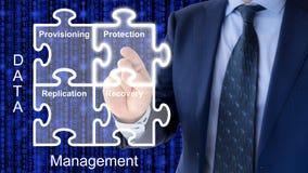 Composants de concept de gestion des données Photo stock
