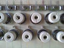 Composants de la machine de broderie Images stock