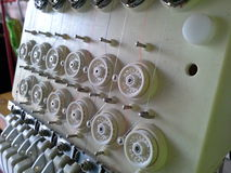 Composants de la machine de broderie Image stock