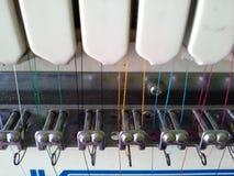 Composants de la machine de broderie Photographie stock libre de droits