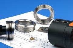 Composants de mesure en métal photo stock