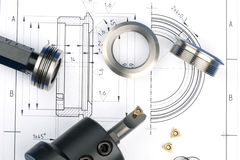 Composants de mesure en métal Image stock