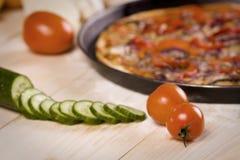 Composants de pizza Image libre de droits