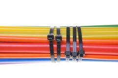 Composants de tuyauterie de rétrécissement de la chaleur pour des câbles Photos libres de droits