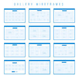 Composants de Wireframe de galerie pour des prototypes Image libre de droits