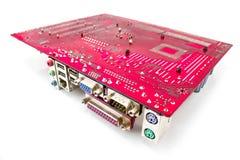 Composants et circuits de carte mère de matériel photographie stock