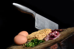 Composants faits de nouilles bouillies Photo stock