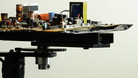 Composants par radio sur le plan rapproché électronique de conseil de rotation banque de vidéos