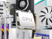 Composantsmatériels de PC d'isolement sur le blanc rendu 3d Photo stock