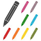Compose icon, pencil set. Icon vector illustration
