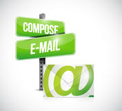 Compose mail concept illustration design Stock Photos