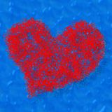 Composed red heart Stock Photography