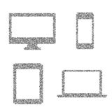 Composed symbols of electronic device Royalty Free Stock Photo