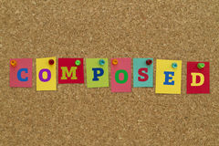 Composed word written on colorful sticky notes. Royalty Free Stock Photo