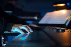 Composer playing piano royalty free stock images