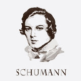 Composer Robert Schumann. vector portrait Royalty Free Stock Images