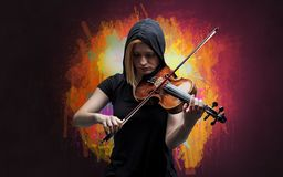 Composer with splotch and his violin royalty free stock photos