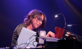 Suzanne Ciani live at Sonar Barcelona festival. Composer suzanne Ciani performs live at Sonar Advanced music and arts festival Stock Photo