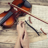 Composer work Desk. Royalty Free Stock Photography