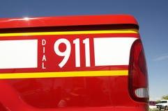 Composez 911, véhicule photo stock