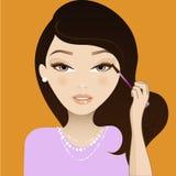 Composez la fille Illustration Libre de Droits