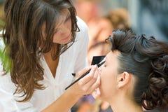 Composez la session sur le cheveu et composez Fest Image libre de droits