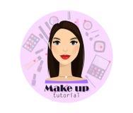 Composez le cours Femme Vecteur Beau femme Pour le Web, bannière, élément de conception Images stock