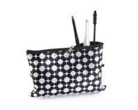 Composez le sac avec des cosmétiques Photographie stock