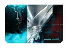 Composição 3d abstrata azul Fotos de Stock Royalty Free