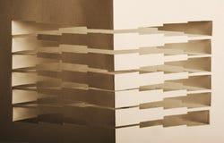 composição 3d de papel abstrata Imagens de Stock
