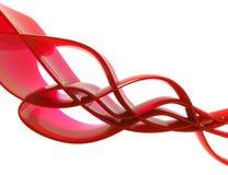 Composição 3d vermelha ilustração do vetor