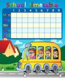 Composição 8 do calendário da escola Foto de Stock