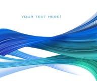 Composição abstrata azul ilustração stock