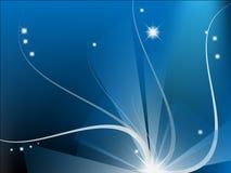Composição abstrata azul de Moder Fotografia de Stock