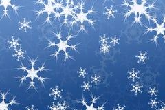 Composição abstrata, azul do fundo da neve Fotos de Stock Royalty Free